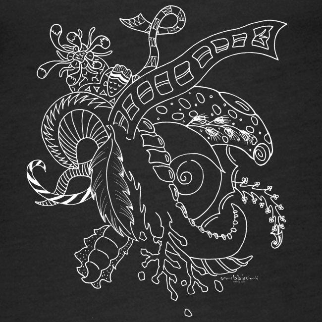 Fantasy hvid scribblesirii