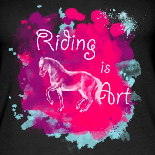 RidingArt Pink Splash - Frauen Premium Tank Top