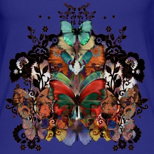 Pizzo e farfalle - Canotta premium da donna