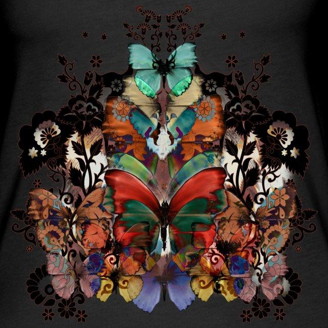 Pizzo e farfalle