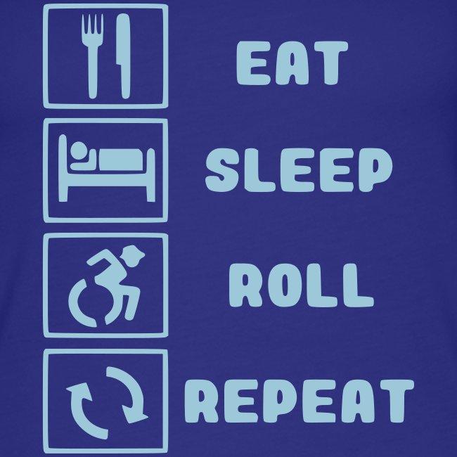 >Eten, slapen, rollen met rolstoel en herhalen 001