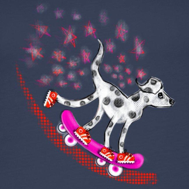 Spotty Skateboarder