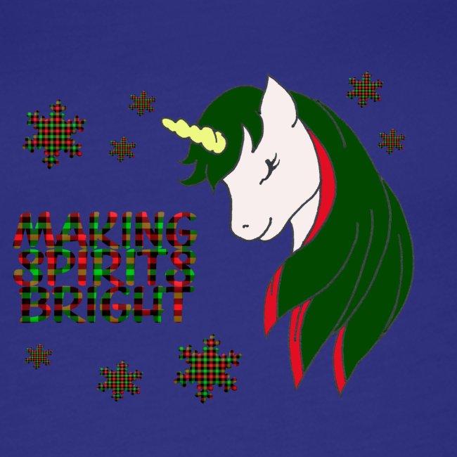 Unicorn making bright spirit