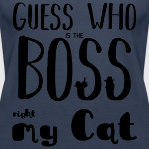 Guess who is the Boss - Women's Premium Tank Top