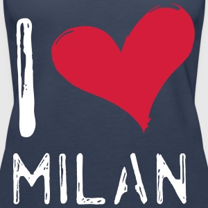 I Love Milan - Premium singlet for kvinner