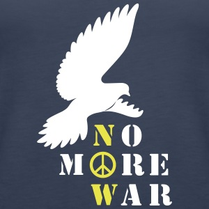No More War Now Silhouette - Frauen Premium Tank Top