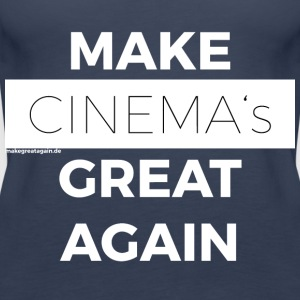 MAKE CINEMAS GREAT PONOWNIE biały - Tank top damski Premium