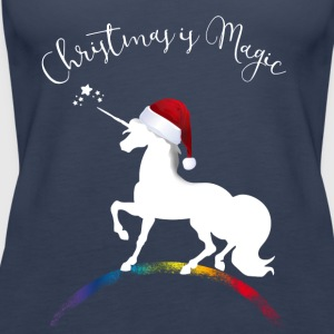 christmas_magic-unicorn Unicorn jul XMLs gir - Premiumtanktopp dam
