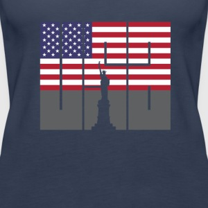 usa america flag freedom statemen symbol vacation - Women's Premium Tank Top