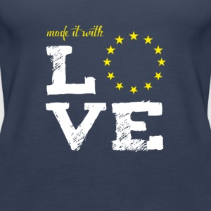 made it with love EU europe baby birth taufe star - Frauen Premium Tank Top