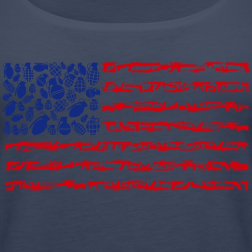 US Flagge aus Waffen - Frauen Premium Tank Top
