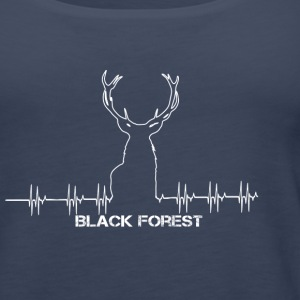 Black Forest Heartbeat white - Frauen Premium Tank Top