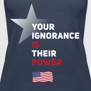 power Amerika star political statement Spruch fahn - Frauen Premium Tank Top
