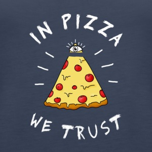 Pizza fastfood love eye pyramid Illuminati LOL - Women's Premium Tank Top