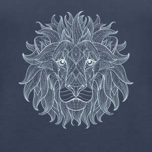 Lion white lion king outline mandala pattern head - Women's Premium Tank Top