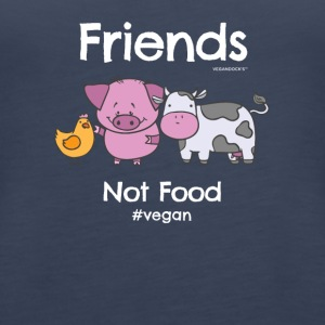Friends Not Food TShirt for Vegans and Vegetarians - Women's Premium Tank Top