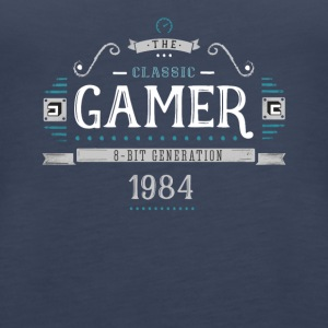 Classic Gamer Retro 8bit Generation 1984 Birthday - Women's Premium Tank Top