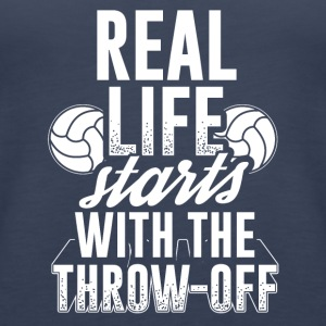 Handball REAL LIFE STARTS WITH THE THROW OFF - Women's Premium Tank Top
