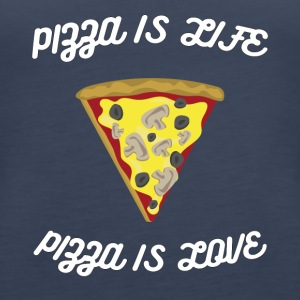 ♥ ♥ Pizza er Livet er kærlighed ♥ Pizza Fun T-shirt - Dame Premium tanktop