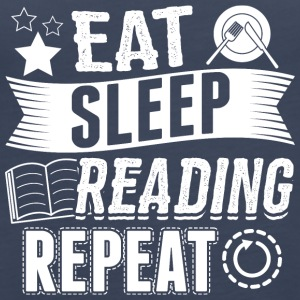 Reading EAT SLEEP reader reader reading - Women's Premium Tank Top
