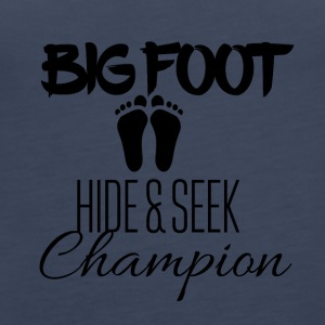 Big Foot Verstoppertje Champion - Vrouwen Premium tank top