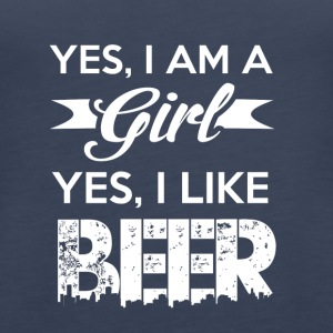 YES, iam a girl, YES i like BEER - Women's Premium Tank Top