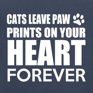 Cats leave paw prints on your heart forever - Frauen Premium Tank Top