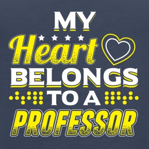 My Heart Belongs To A Professor - Women's Premium Tank Top