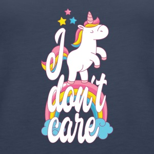 I don't care - unicorn - Women's Premium Tank Top