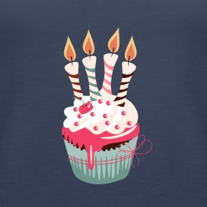 Cupcake with four candles - Women's Premium Tank Top
