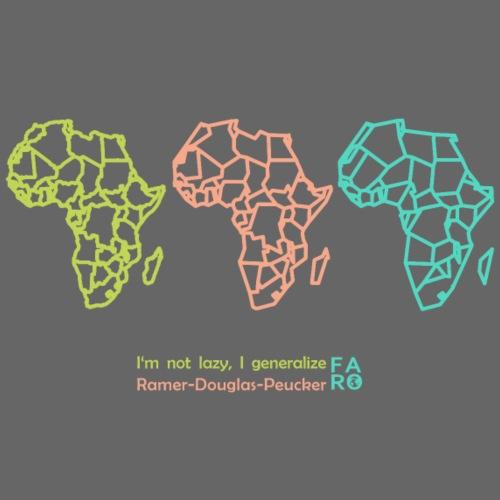 Ramer-Douglas-Peucker Algorithm -Africa - Women's Premium Tank Top