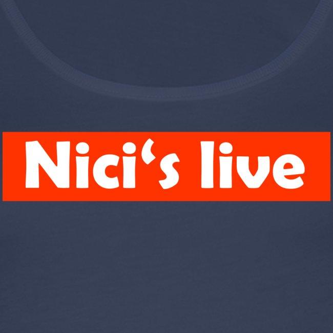 Nici's live Rot/Weiß T-Shirt