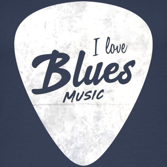 I Love Blues Music Guitar Pick