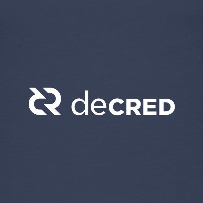 Decred logo horizontal white