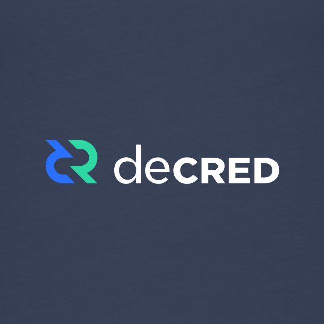 Decred logo horizontal color white