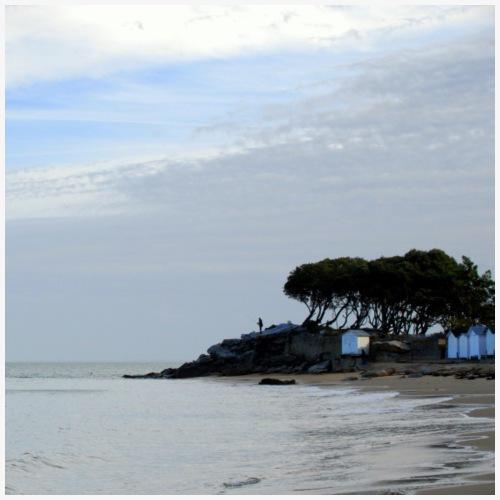 Pêcheur sur la pointe Saint Pierre à Noirmoutier - Débardeur Premium Femme