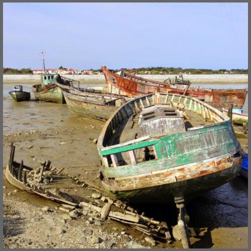 Cimetière de bateaux à Noirmoutier en l'île - Débardeur Premium Femme