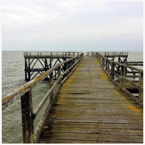 Estacade sur la plage des Dames, Noirmoutier - Débardeur Premium Femme