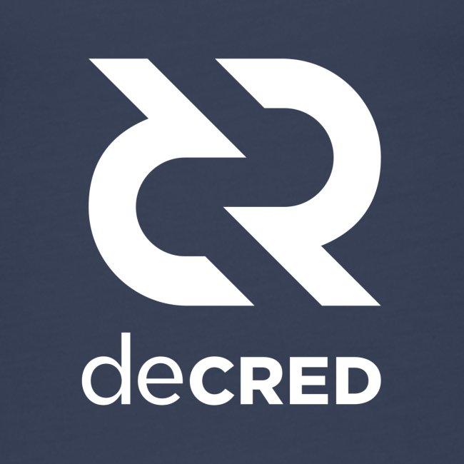 Decred logo vertical white