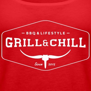 Grill and Chill / BBQ and Lifestyle Logo 1 - Frauen Premium Tank Top