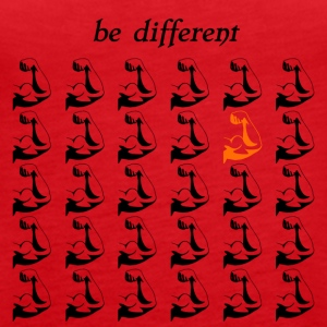 "Fitness Shirt Fitness Accessories ""be different"" - Women's Premium Tank Top"