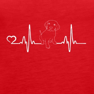 Dog - heartbeat - Vrouwen Premium tank top