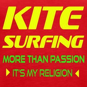 KITESURFING MORE THAN PASSION - ITS MY RELIGION - Women's Premium Tank Top