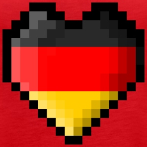 Pixel heart Germany flag - Women's Premium Tank Top