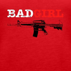 badgirl rifle - Frauen Premium Tank Top