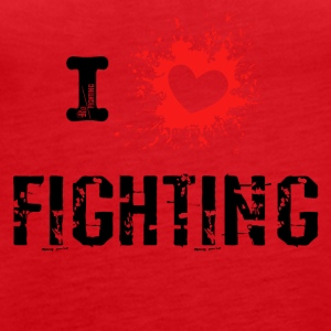 iLove Fighting rood - Vrouwen Premium tank top