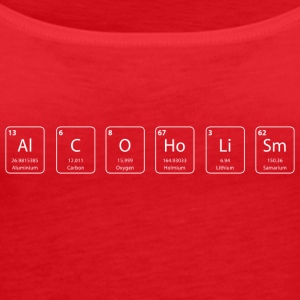 Alcoholism nerd shirt - Women's Premium Tank Top