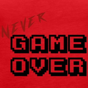 Never game over transparent - Débardeur Premium Femme