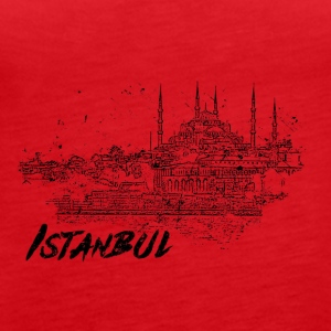 Istanbul - city view sketch - Women's Premium Tank Top