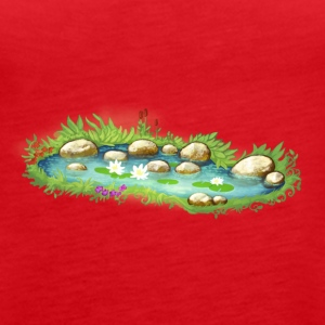 Garden Pond Pond Water Plants - Women's Premium Tank Top